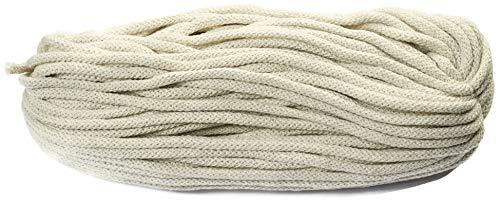 Baumwollkordel 6mm dick 50 Meter Lang Baumwollkordel creme