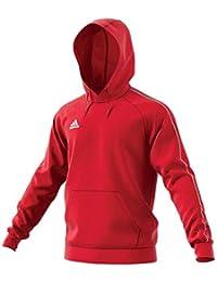 adidas Football App Generic, Hooded Sweat Uomo, (Rosso/Bianco), XL