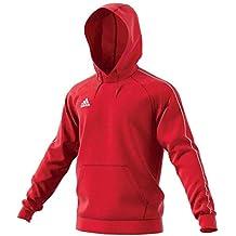 Adidas CORE18 Hoody Sweatshirt, Hombre, (Rojo/Blanco), L