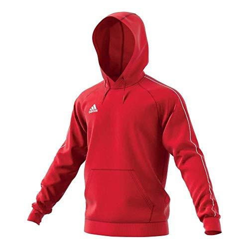 Adidas CORE18 Hoody, Felpa Uomo, Rosso, 2XL