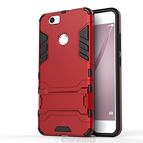 Huawei Nova Hülle, Cocomii Iron Man Armor NEW [Heavy Duty] Premium Tactical Grip Kickstand Shockproof Hard Bumper Shell [Military Defender] Full Body Dual Layer Rugged Cover Case Schutzhülle (Red)