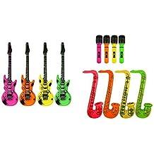 Inflable Guitarra, Saxophone,Micrófono - 3 SURTIDO ARTÍCULOS