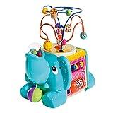 WOOMAX- Elefante de madera con actividades 5 en 1 (Color Baby 46249)