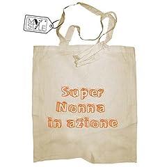 Idea Regalo - My Custom Style® Shopper in cotone naturale di colore beige modello