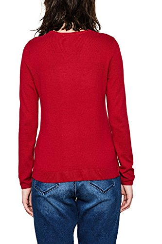 edc by ESPRIT Damen Pullover Rot (Dark Red 610)