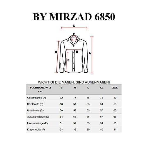 BOLF – Chemise casual – avec manches longues – BY MIRZAD 6850– Homme Bleu foncé