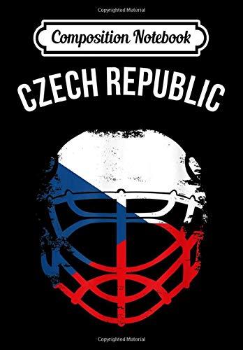 Composition Notebook: Czech Flag Hockey Helmet Czech Republic Ice Hockey, Journal 6 x 9, 100 Page Blank Lined Paperback Journal/Notebook