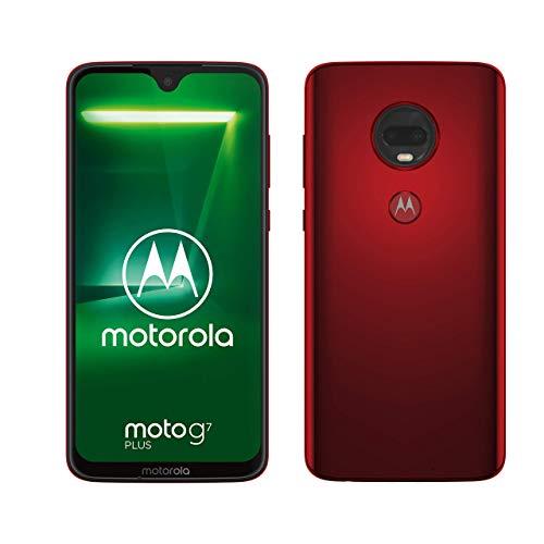 moto g7 plus Dual-SIM Smartphone (6,2 Zoll Bildschirm, 16-MP-Dual-Kamera, 64GB/4GB, Android 9.0) Viva Red