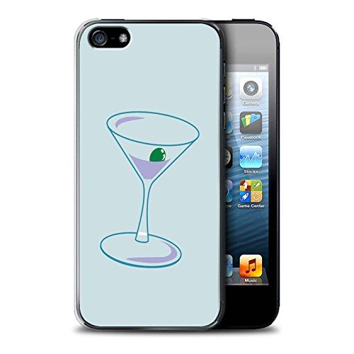 Stuff4 Hülle / Case für Apple iPhone SE / Zusammenfassung Glas Muster / Teal Mode Kollektion Martini-Glas/Alkohol