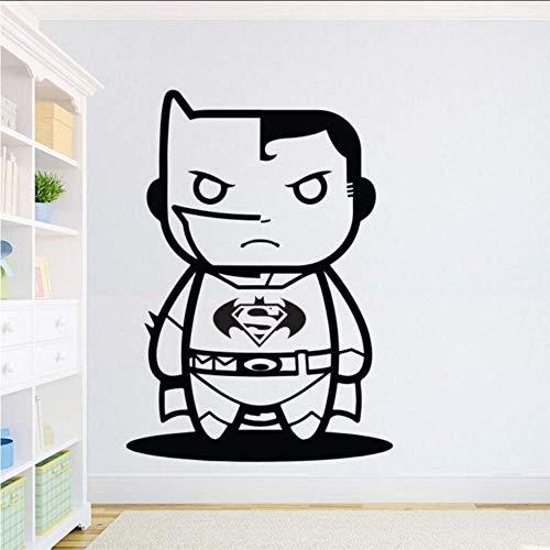 Makeyong WandaufkleberInspiration Wandtattoo Kinder Jungen -Raum -Dekor Superman Vs -Wand -Kunst -Wand Cartoon Aufkleber 42X59Cm (Wand-kunst Superman)