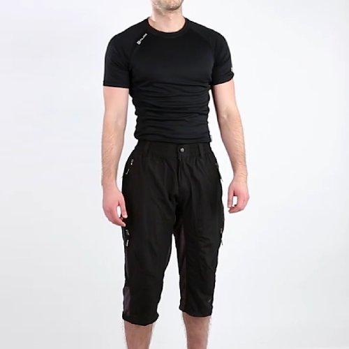 Cycle Liner Shorts (Eigo Zenith 3/4Baggy Shorts mit Coolmax Liner Großer Schwarz/Slate)