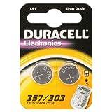 Duracell Electronics 357/303/SR44–Lot de 2piles à l'oxyde d'argent