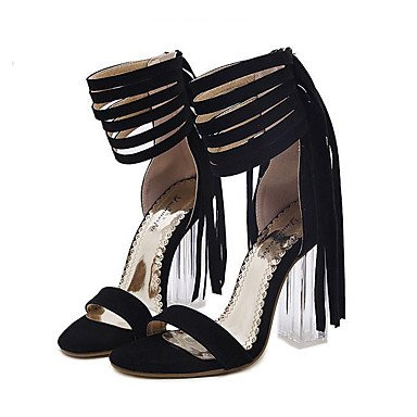 zhENfu Women's Heels Spring / Summer / Fall / Winter Gladiator / Comfort / Novelty Leatherette Wedding / Party & Evening / Dress / Casual Black