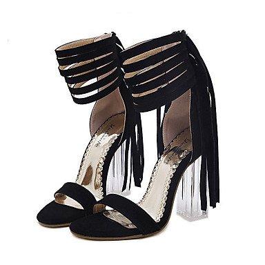 zhENfu Womens Heels Spring / Summer / Fall / Winter Gladiator / Comfort / Novelty Leatherette Wedding / Party & Evening / Dress / Casual Black