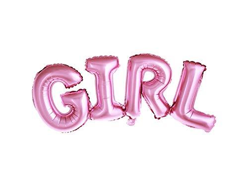irthday Buchstaben Ballons  Folienballons Buchstabenballons Luftballons Geburtstag perfekt für Baby-Shower Baby-Dusche (Silber) (Girl Rosa) ()
