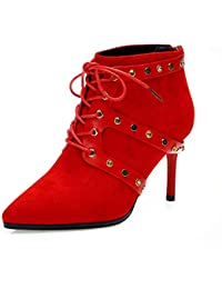 Para Altos Red Zapatos es Amazon Mujer 39 Botas qTaRRB