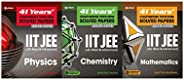 41 Years' Chapterwise/Topicwise Solved Papers IIT JEE Combo: Physics+Chemistry+Mathematics (Set of 3 Bo