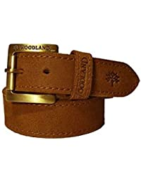 7984eb29790 Wood Land Mens Brown Genuine Leather Casual Belt With Heavy Buckle for Men  Size 38