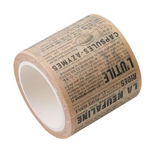 Jixing Washi Ruban adhésif de masquage ruban papier collant pour DIY Décoration décoratifs Petit Objet Embellisseur Craft Cadeau Scrapbooking 4.5-3.5cm Big Newspapers