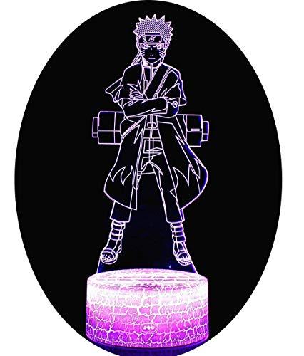 3D LED Lampe Nachtlicht, CKW 7 Farben Wählbar Dimmbare Touch Schalter Nachtlampe für Kinder Weihnachten Geburtstag beste Geschenk Spielzeug (Naruto 1)