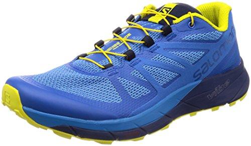 Salomon Sense Ride, Zapatillas de Trail Running para Hombre, Azul (Snorkel Blue/Indigo Bunting/Sulphur 000), 44 EU