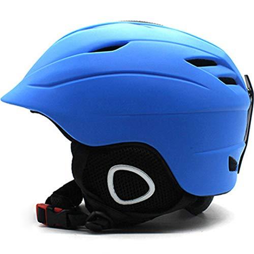 Mann Frau Qualität Marke Skihelm Snowboard Helm Winter Schnee Schnelle Motor Bike Maske Skateboard Snowmobile Reiten Sport Sicherheit Blue L 59-62cm