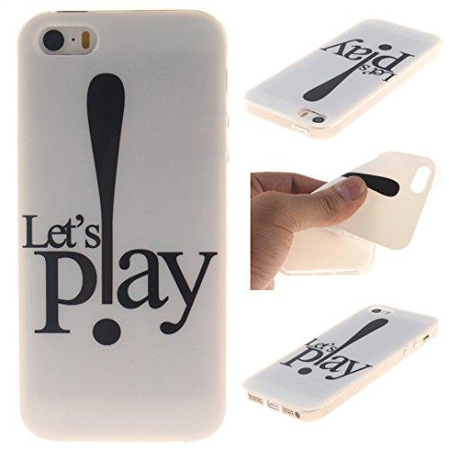Xf-fly® iPhone SE / 5 / 5S Hülle mit TPU Silikon Material und Retro Farblich Muster Schutzhülle Handytasche für Apple iPhone SE / 5 / 5S(4.0 Zoll) P-14