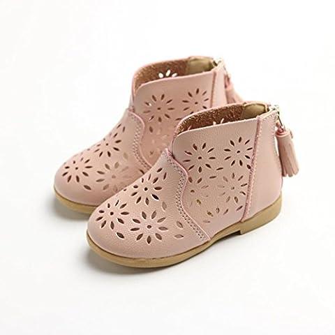 TPulling Soft Sole Krippe Breathable Kleinkind-Baby-Aufladungs-Mädchen-Sommer-Schuhe Kinderkind-Prinzessin-Schuhe (25, Rosa)