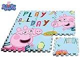 Kids Peppa Pig alfombra-Puzzle EVA Sol, PP17004, Multicolore, 90x 90cm - Version...