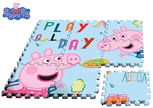 Desconocido Kids- Peppa Pig Alfombra-Puzzle eva Suelo 90x90cm, (PP17004)