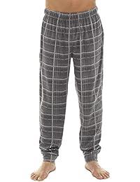 da11c2484cba8 Tom Franks Mens Checked Fleece Cuffed Lounge Pyjama Trousers