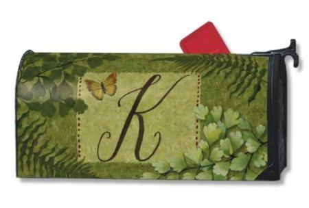 Nature's Script Monogram K Magnetic Mailbox Cover