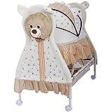 Baybee Baby Comfort Cradle Cot | New Born Baby Swing Cradle With Mosquito Net & Wheel Newborn Bedding Sets/Baby Nursery Bedding Bassinets For Newborn Baby (Yellow)