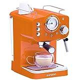 Oursson Kaffeemaschine, 3 Jahre Garantie, 15 Bar Espressomaschine, Espresso-Siebträgermaschine, Milchaufschäumer für Cappuccino und Latte, 1.5L Tank, Rot EM1500/OR (Orange)