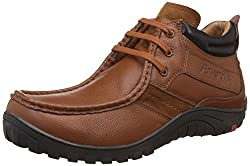 Red Chief Mens Glassy Tan Leather Boat Shoes - 6 UK/India (39 EU)(RC3404 287)