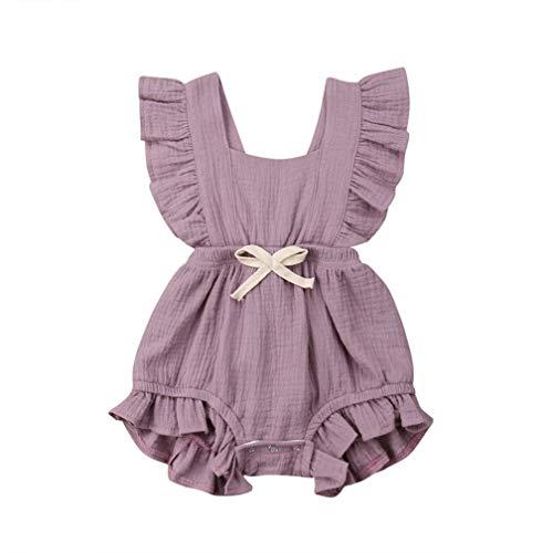 Body Infantil para bebés, bebés recién Nacidos con Volantes Mamelucos sin Mangas...