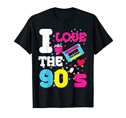 Kostüm Musik Party Themen - I love the 90's T-Shirt Retro 90er Jahre Kostüm Party