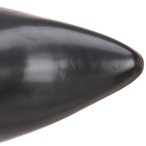 Demonia Veggie Stiefeletten Brogue-107 Schwarz