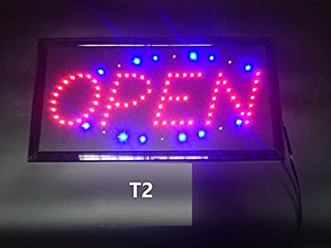 Rocwing - Super Bright Flashing LED Open Sign (Rectangle Red Open)