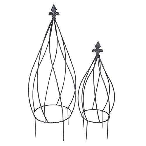 Spetebo Metall Rankhilfe in Zwiebel Form - 2er Set - Pflanzen Rankgitter Garten Dekoration