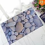 INOVEY Gummi Fußmatte 3D Chic Home Teppich Baby Fuß Bereich Teppich Teppich Bad Anti-Rutsch-Bodenmatte - # 1