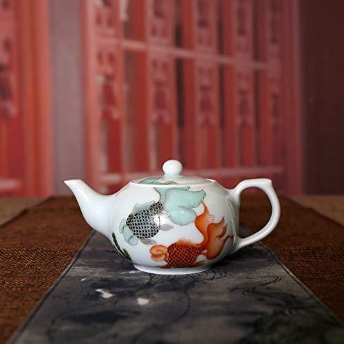Keramik Kleine Wasserkrug Teekanne Jingdezhen Handgemachte Keramik Handbemalt Pastell Koi Teekanne...