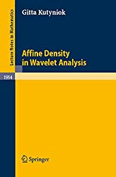 Affine Density in Wavelet Analysis (Lecture Notes in Mathematics)