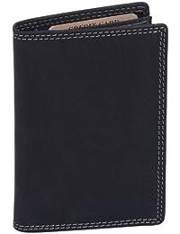 porte-cartes pour pièce d'identité et porte-cartes LEAS MCL, cuir véritable, noir - ''LEAS Basic-Vintage-Collection''