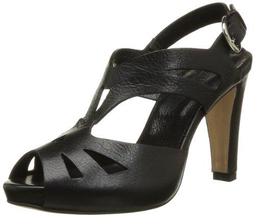 Lena Milos T2963, Sandales femme Noir (Pelle Glace Nero)
