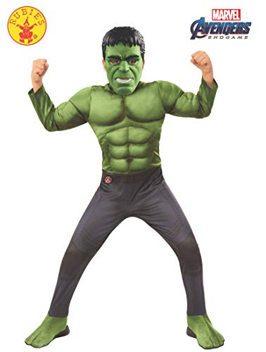Hulk Kostüm Deluxe Marvel Kind - Rubie's Offizielles Avengers Endgame Hulk, Deluxe Kinderkostüm, Größe M, Alter 5-7, Höhe 132 cm