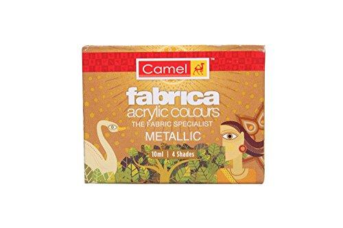 Camel Fabrica Acrylic Metallic Color - 10ml Each, 4 Shades