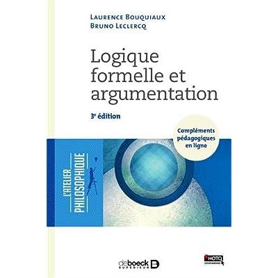 Logique formelle et argumentation