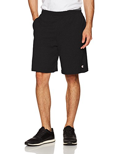 Champion Mens Jersey Short-Graphic L Black (Elite-jersey-shorts)
