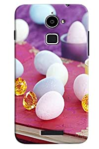 Omnam Pearl And Gems Pattern Printed Back Cover Case For Coolpad Note 3 Lite